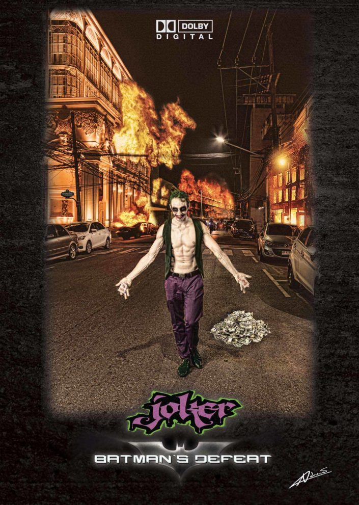 Fantasy photography man as joker style.
