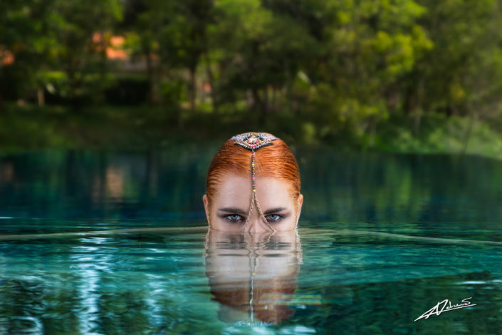 Fantasy photography woman in the water.