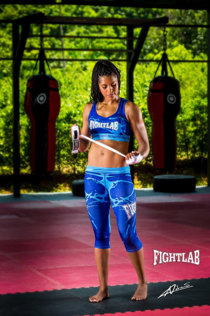 Fashion photography model with sportswear.