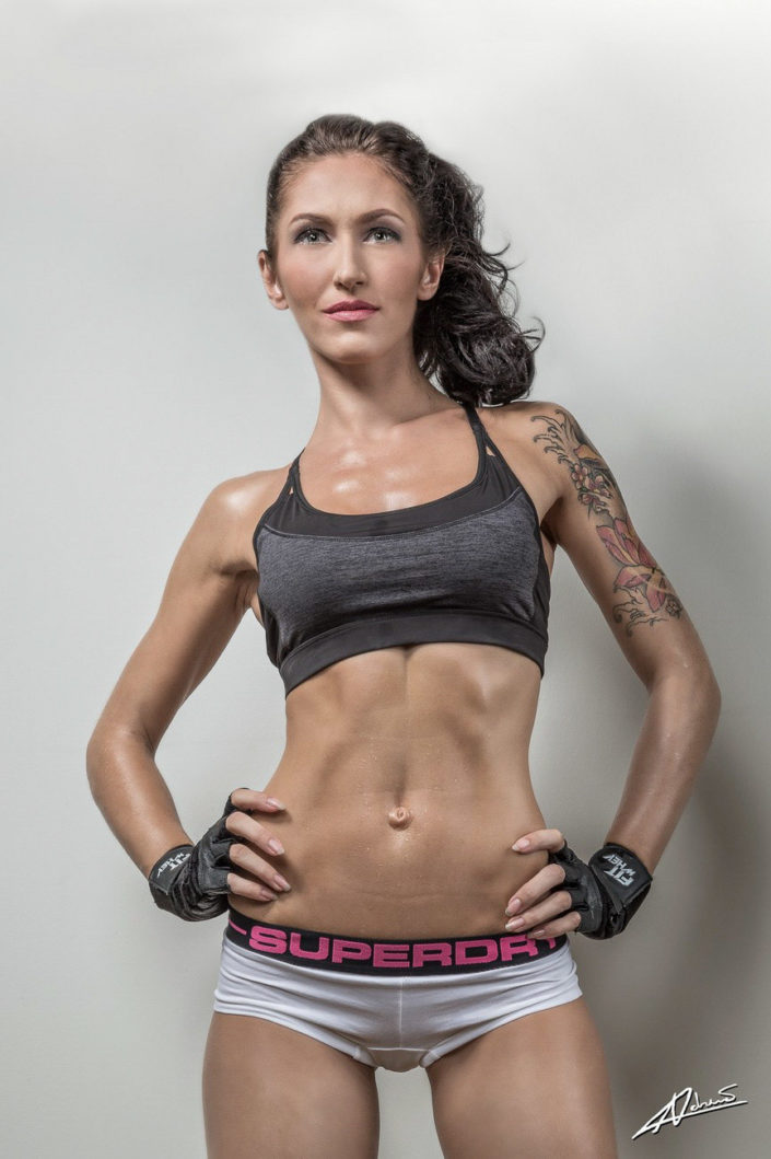 Fitness photography fit woman.