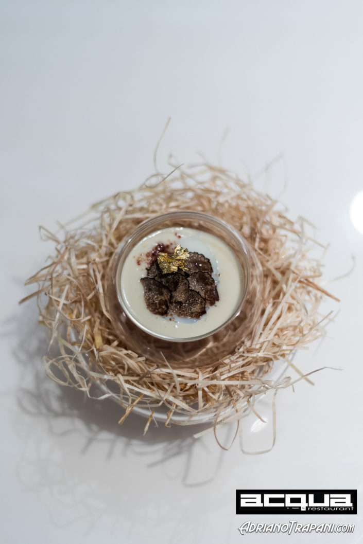 Food Photography Acqua Restaurant Phuket Chef Alessandro Frau Slow Cooked Egg on Parmesan Cheese Fondue and Truffle.