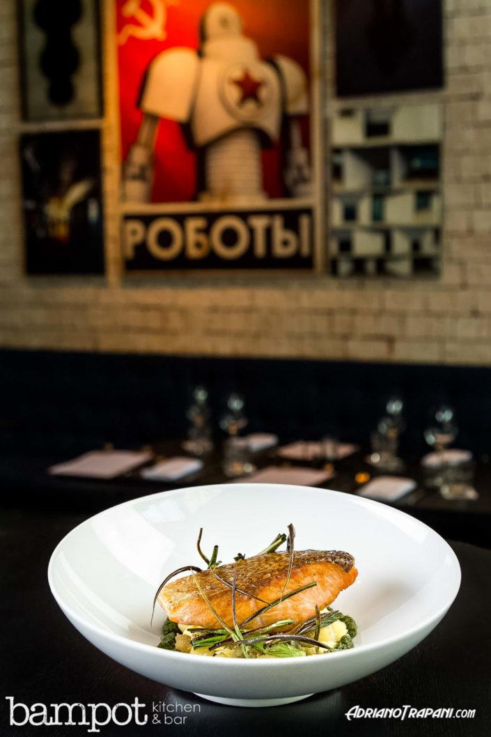 Food Photography Bampot Kitchen & Bar Tuna Steak shot from side.