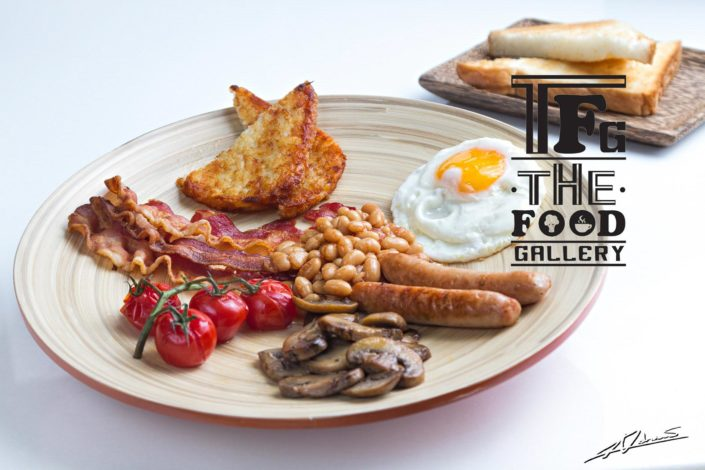 Food and drinks photography The food gallery Phuket american breakfast.
