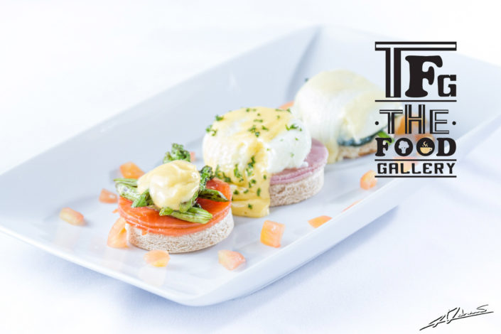 Food and drinks photography The food gallery Phuket appetizer eggs benedict with salmon.