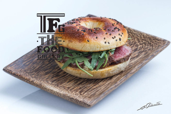 Food and drinks photography The food gallery Phuket burger with steak.