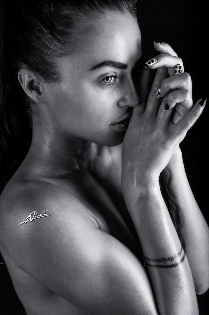 Portrait photography woman close up shoot.