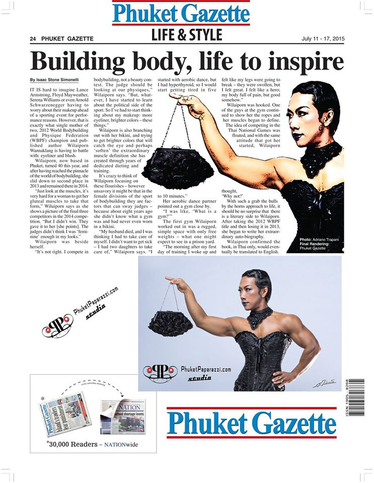 Press coverage Phuket Gazette photo of Wilaiporn Wannaklang (Joom) july 2015.