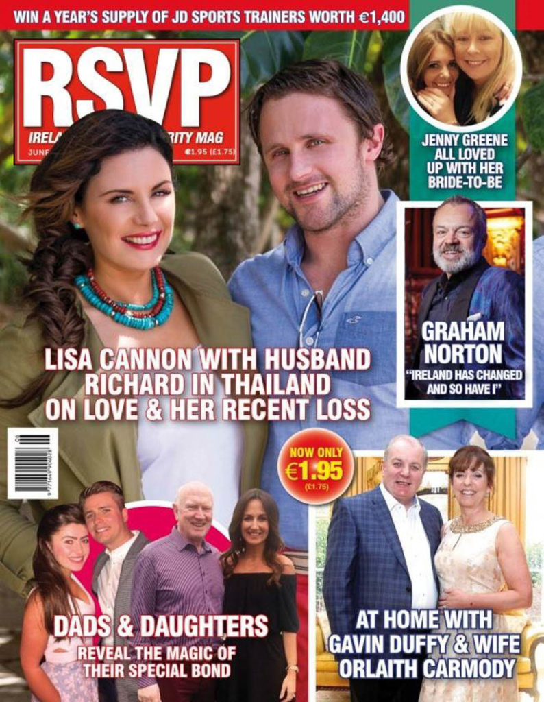 Press coverage RSVP magazine cover about Lisa Cannon may 2016.