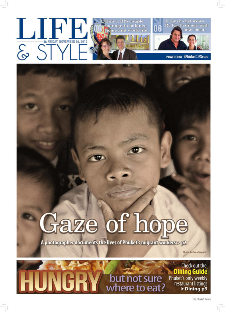 Press coverage The Phuket news gazette article Gaze of hope november 2012.