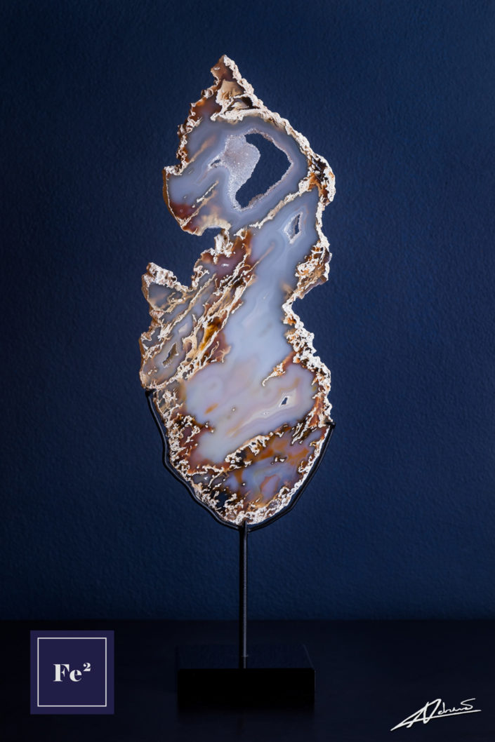 Product Photography Fe2 Decor Brazilian Agate Slice.