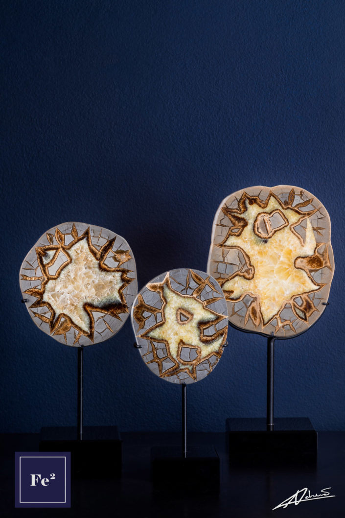 Product Photography Fe2 Decor Septarian Nodules.