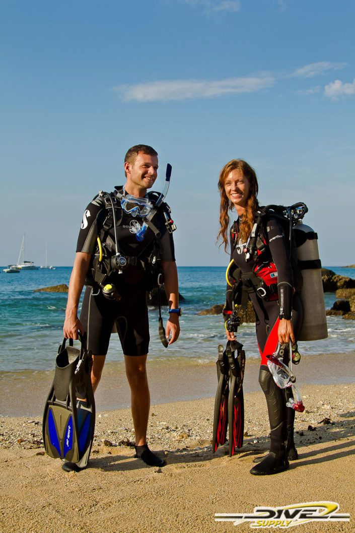 Product photography Dive Supply scuba diving equipment.