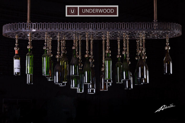 Product photography Underwood factory chandelier.