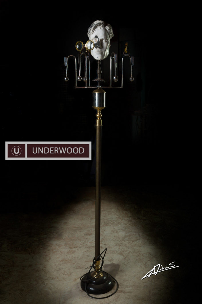 Product photography Underwood factory lamp.
