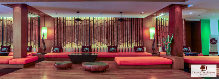 Resort lobby of Doubletree resort by Hilton Phuket.