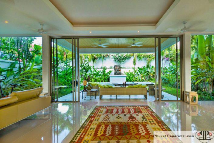 Real estate photography villa interior.