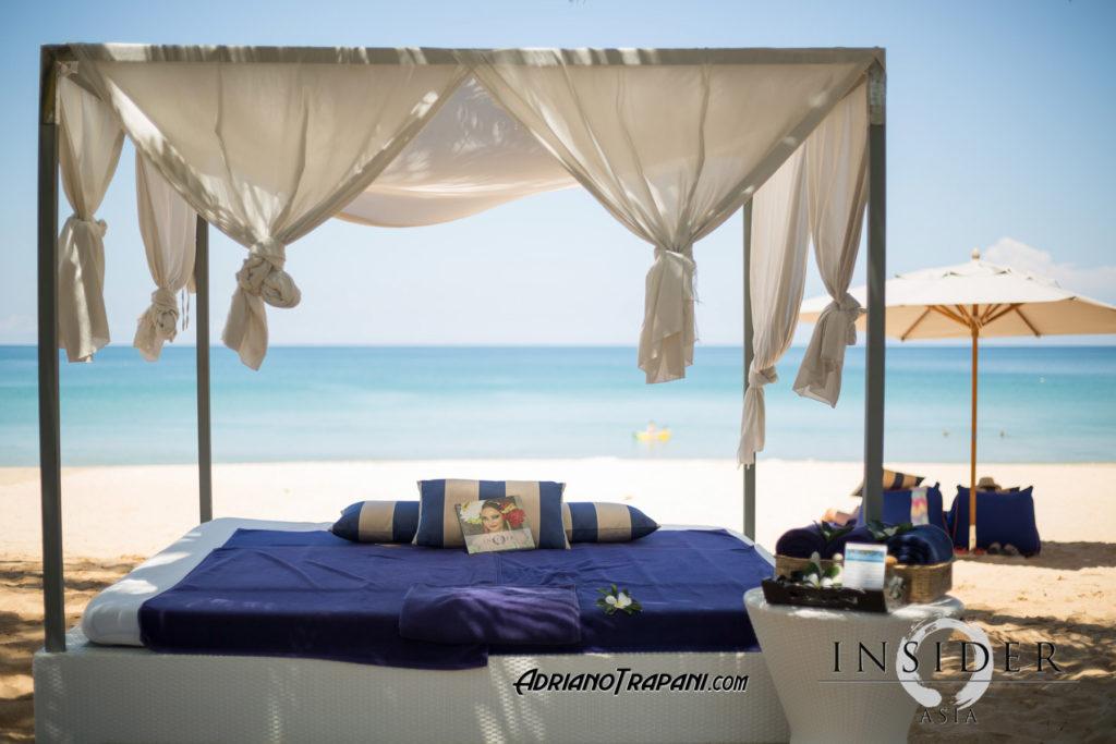 Akyran beach club beach bed.