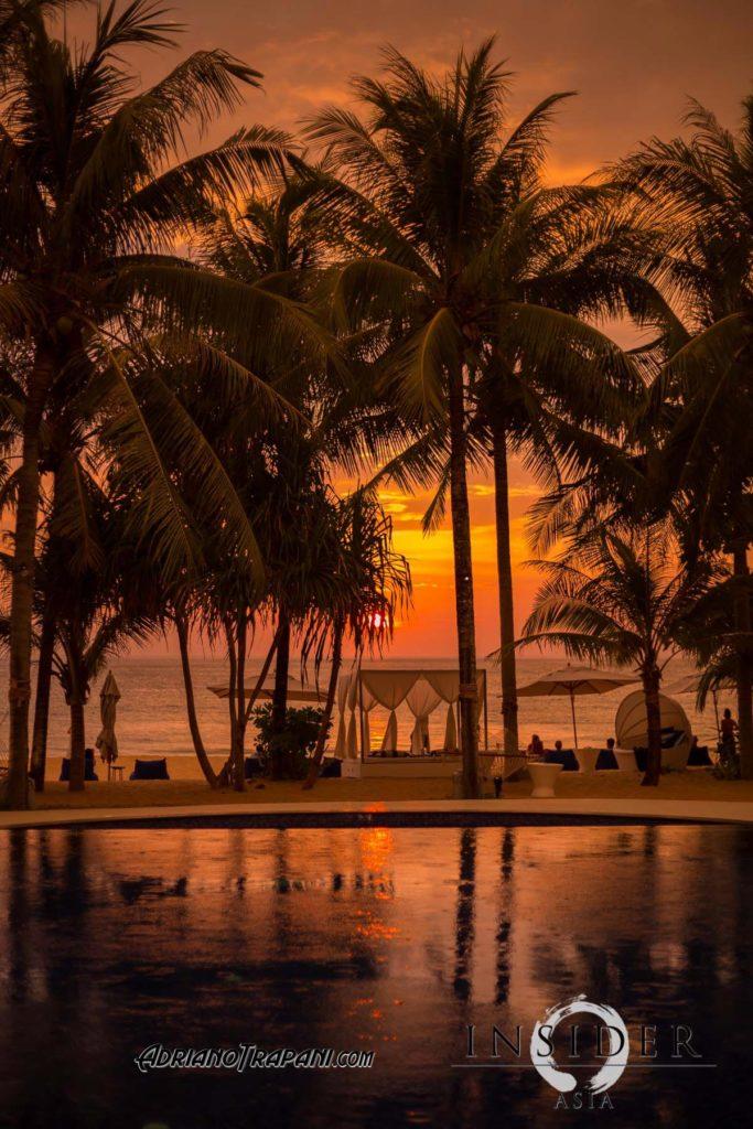 Akyran beach club sunset.