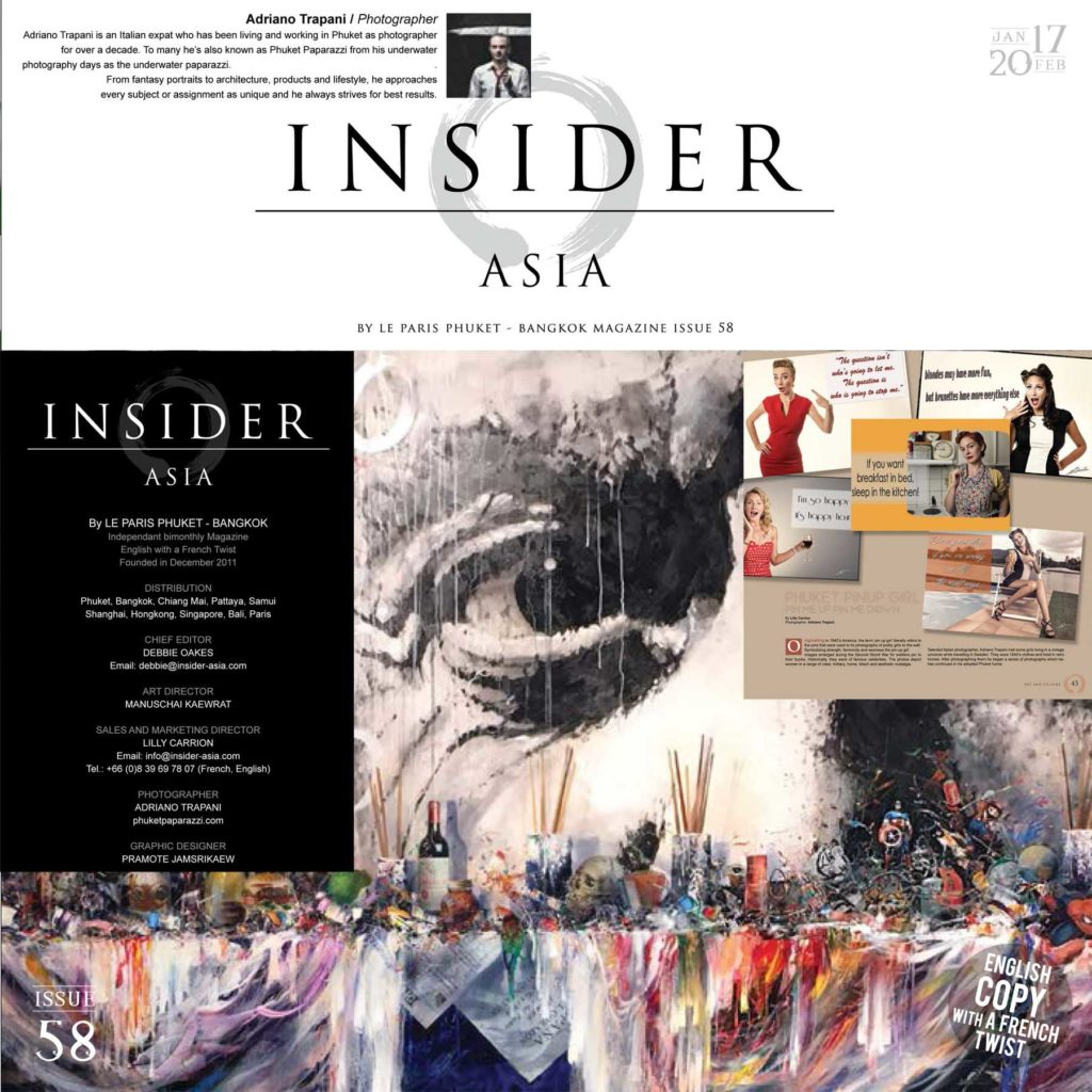 Press coverage Insider Asia 58 article Phuket Pin Up girl