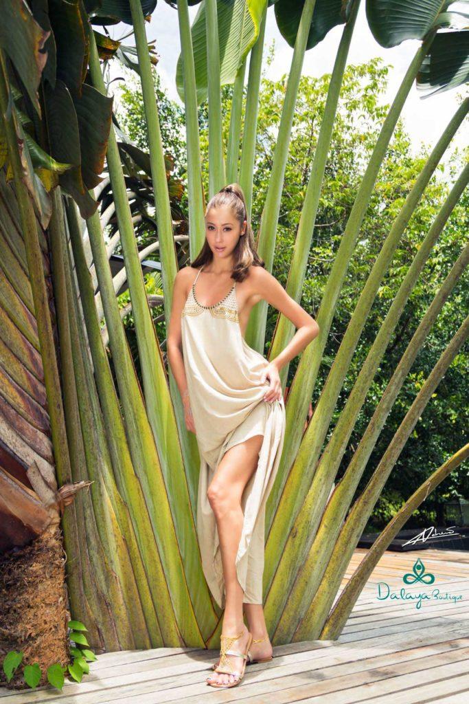 Fashion photography Dajala clothes model with dress.