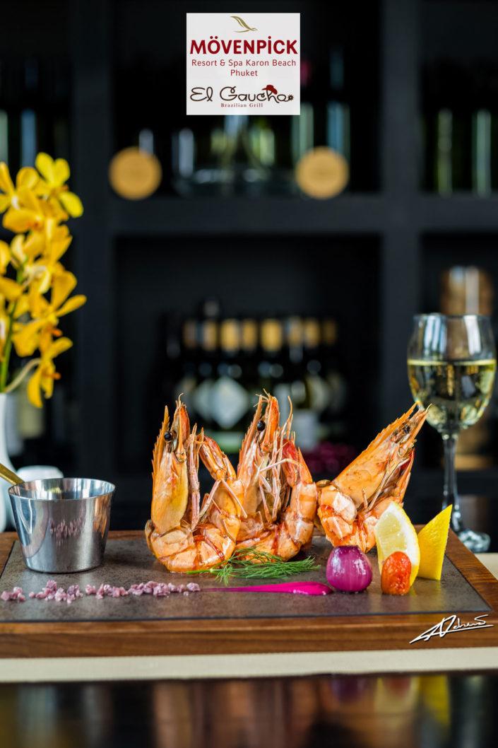 Food and drinks El Gaucho BBQ shrimps.
