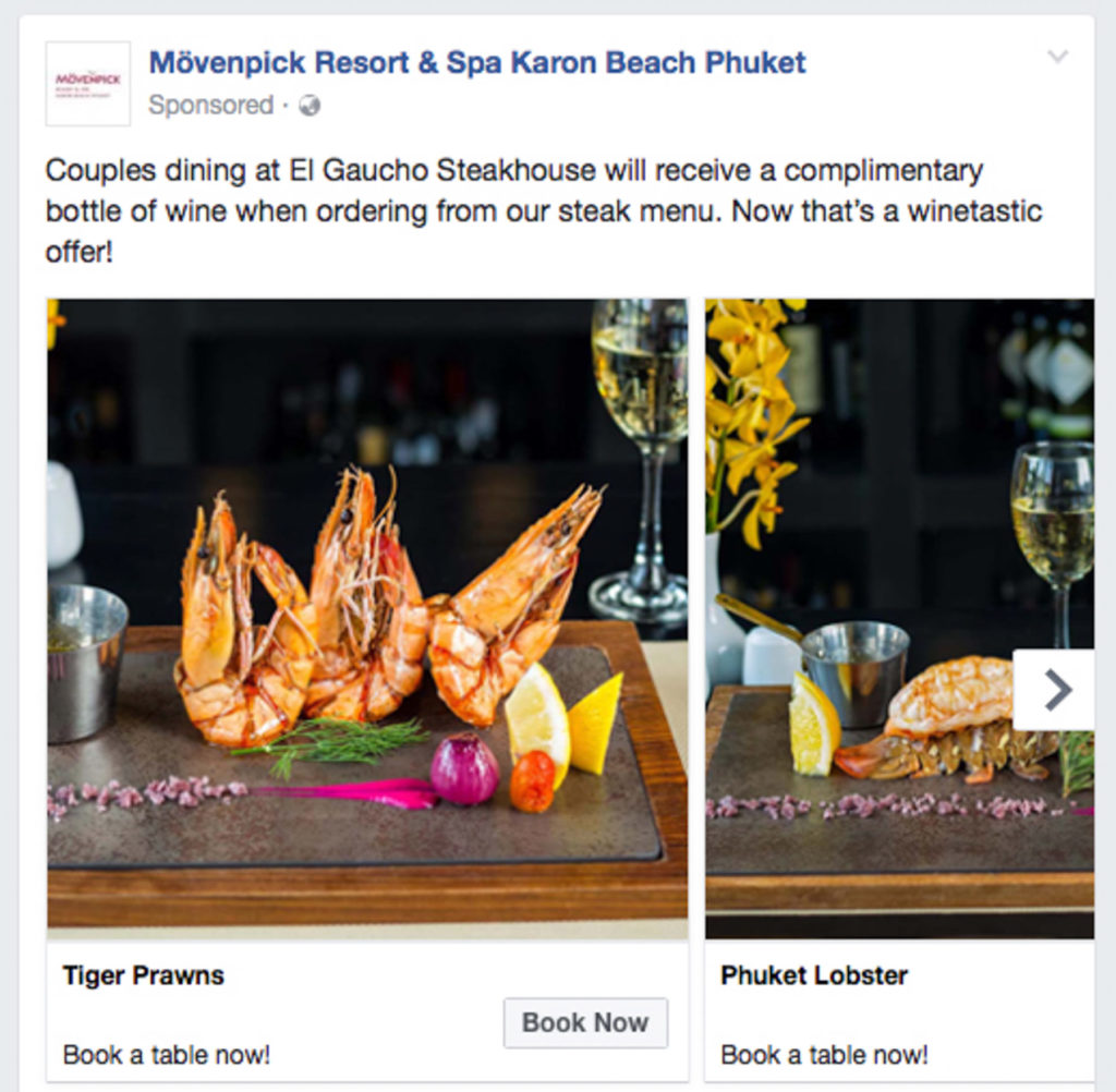Food and drinks photography Movenpick