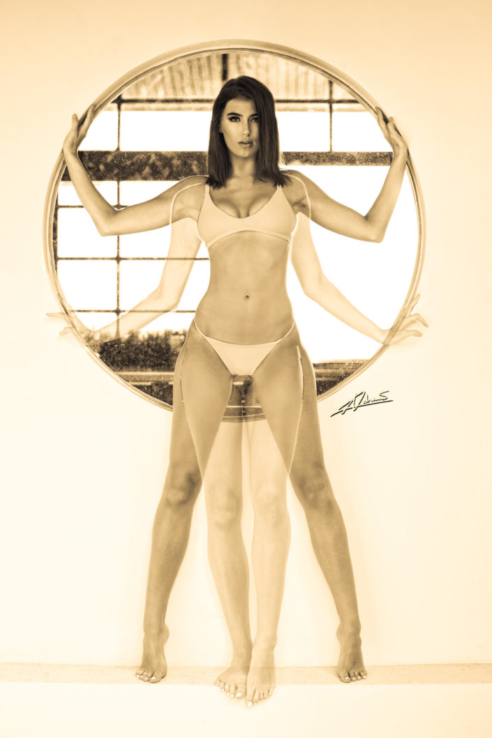 Portrait photography vitruvian woman.