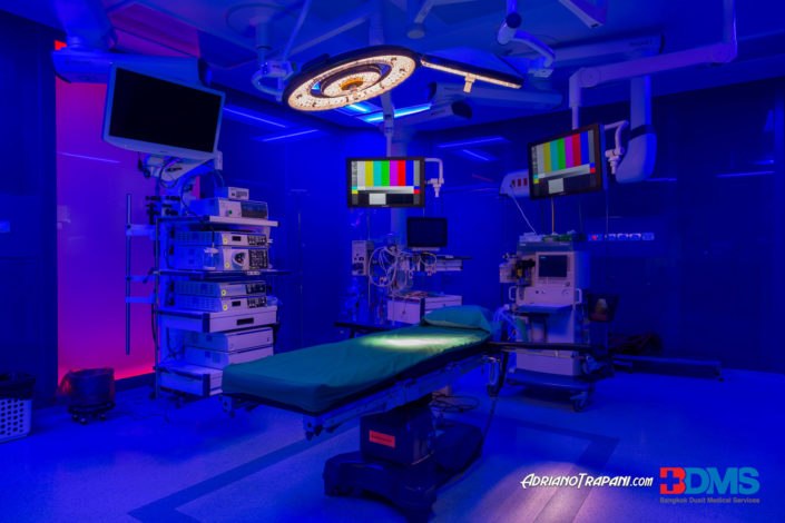 Real Estate Business Photography BDMS Bangkok Hospital Operting Room UV lights